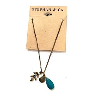🌸🌵🌼Stephan & Co | Bronze Turquoise Necklace